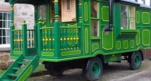Beautiful-23-Green-Caravan-Tiny-House