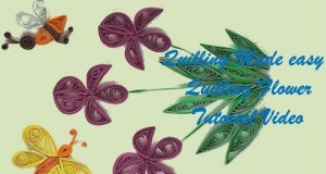Quilling Made Easy # How to make Pink Green Flower Design using Paper Art Quilling -Paper Quilling